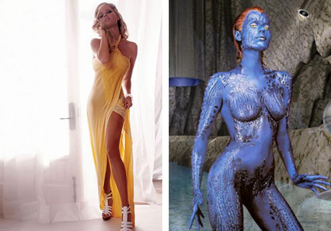 Rebecca Romijn X Men Autors: dzelksnis Celebrity Movie Transformations
