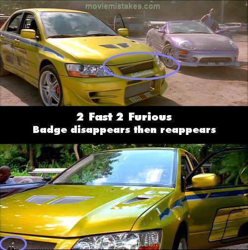 Mitsubishi logo pēkscaronņi... Autors: Senču Lācis Ātrs un Bez Žēlastības - Kļūdas (Fast & Furious)