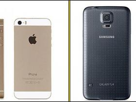 iPhone 5s pret Galaxy s5