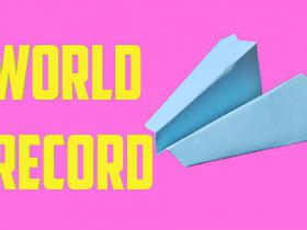 World record paper airplane