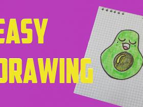 How to draw a cute avocado