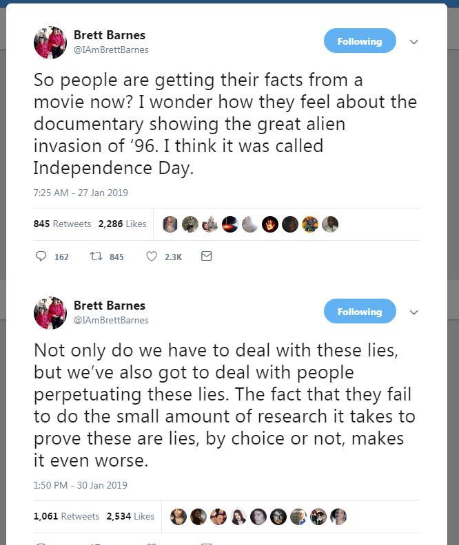 Brets Bārns noliedz jebkādu... Autors: llvllagic777 Fakti nemelo. Cilvēki melo. Patiesība par filmu