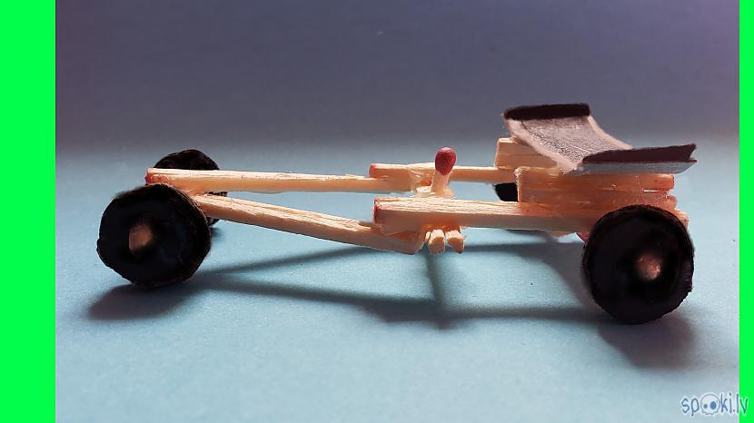 How to Make Amazing Rubber Band Powered F1 Racing Car from Matches
