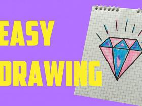 How to draw a cute diamond